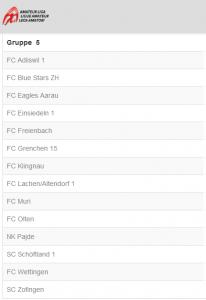 Gruppe 5 2.Liga Interregional Saison 2019/2020